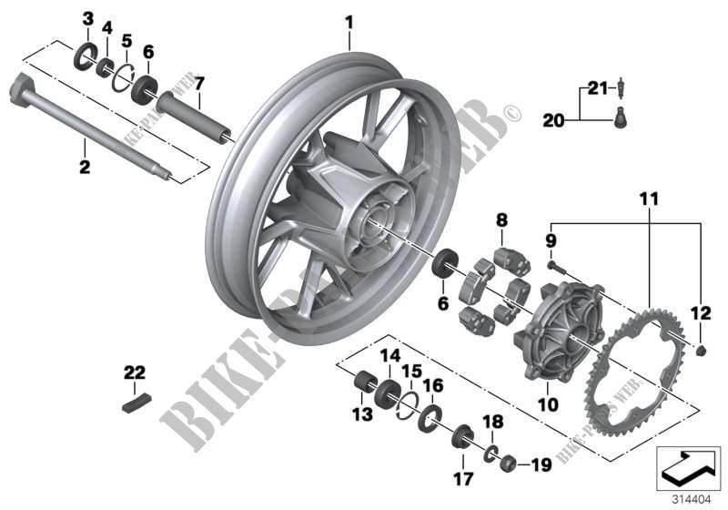 Wheels and tyres K72 02180228 F 650 GS (0218 0228 2006 F