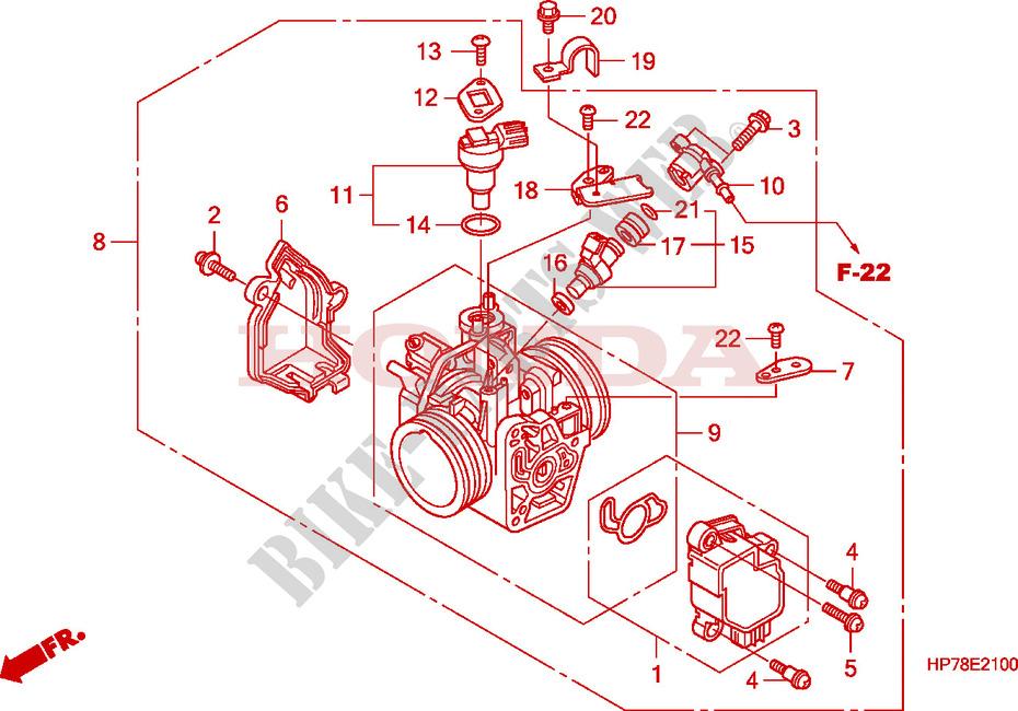 throttle body engine trx420fa9 2009 fourtrax 420 atv honda