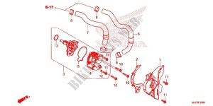 WATER PUMP for Honda CBR 650 F ABS HRC TRICOLOR 2014