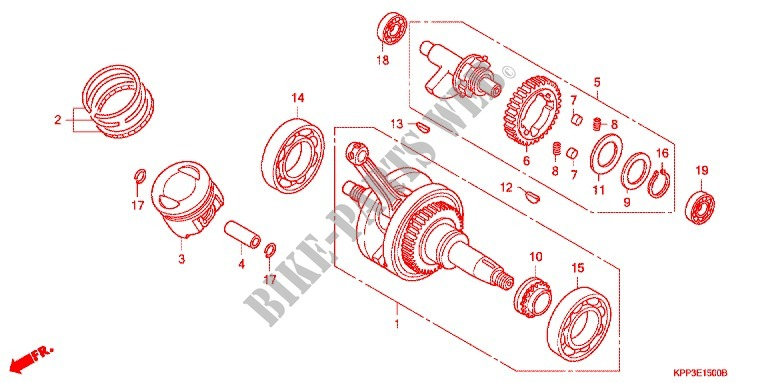 Crankshaft Piston For Honda Cbr 150 R