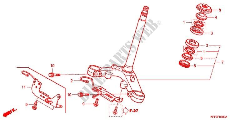 Steering Stem For Honda Cbr 150 R 2007