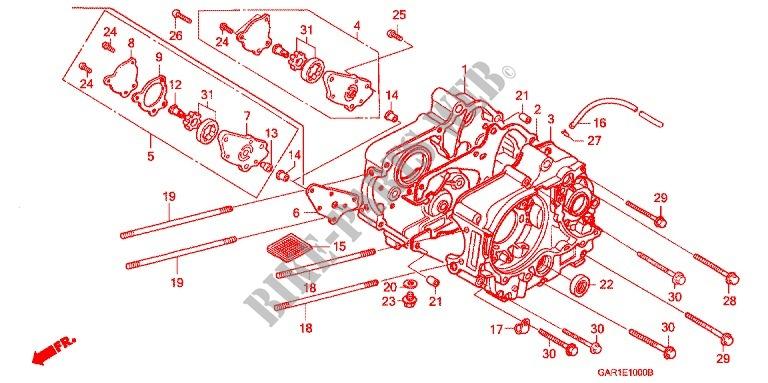 crankcase oil pump engine z50jm m 1991 z50 50 moto honda motorcycle - honda  z50 engine