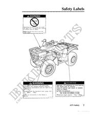 TRX250TE4 Honda user manuals # HONDA Motorcycles & ATVS