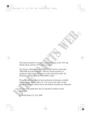 Honda user manuals # HONDA Motorcycles & ATVS Genuine