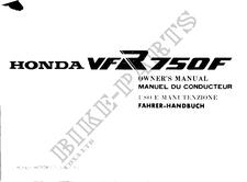VFR750FH Honda Benutzerhandbucher # HONDA MOTORRÄDER