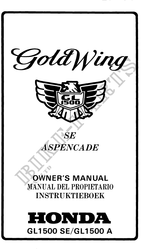 GL1500SE A Manuales de usuario Honda # HONDA MOTOCICLETAS