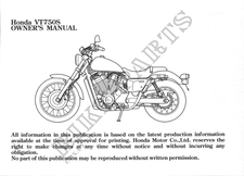 VT750SA Manuales de usuario Honda # HONDA MOTOCICLETAS
