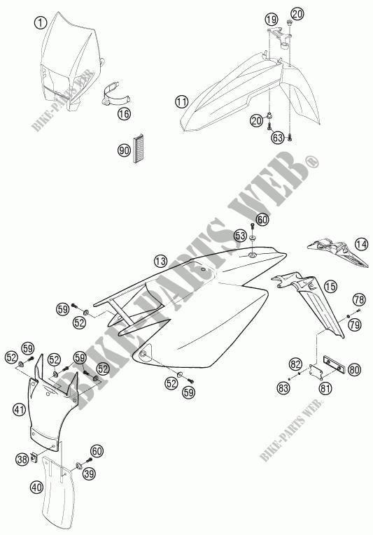 PLASTICS for Husqvarna FS 450 E 2008 # Husqvarna