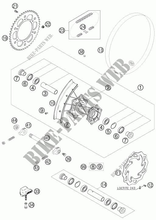 REAR WHEEL for HVA FS 650 E 2008 # Husqvarna Motorcycles