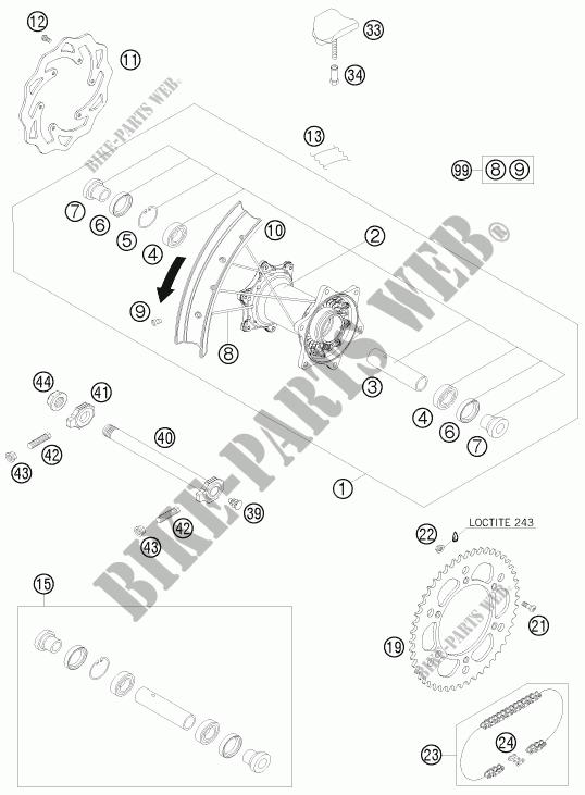 REAR WHEEL for HVA FE 390 2010 # Husqvarna Motorcycles