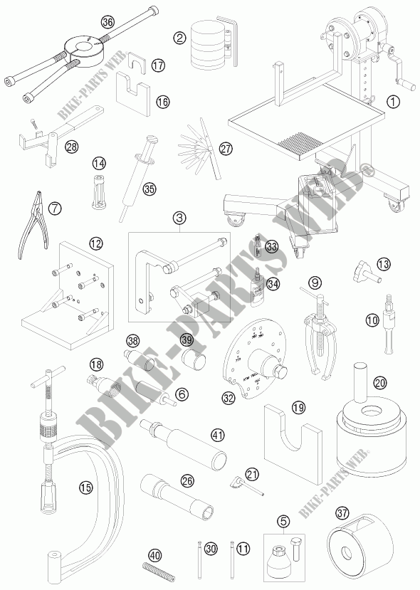 SPECIFIC TOOLS (ENGINE) for HVA FE 390 2010 # Husqvarna