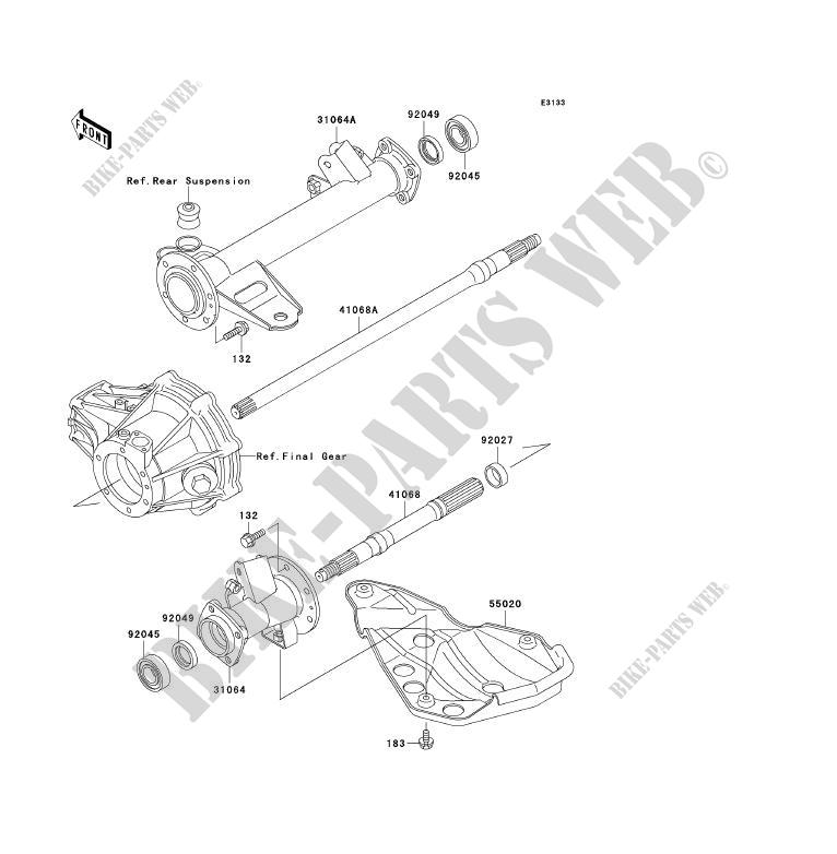 Diagram Of Kawasaki Atv Parts 1998 Klf300b11 Bayou 300