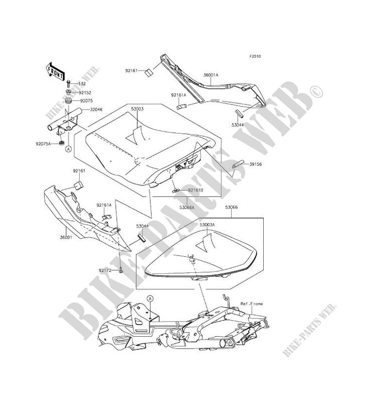 SEAT for Kawasaki ER-6N ABS 2015