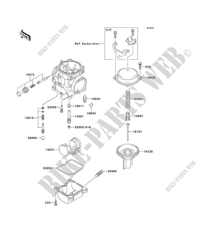 CARBURETOR PARTS for Kawasaki ZZR250 2001