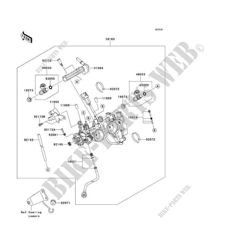 Wiring Diagram Database: Kawasaki Ninja 250r Carburetor