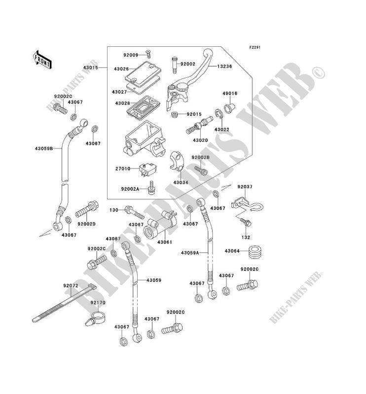FRONT MASTER CYLINDER EX500 E2 GPZ500S 1995 500 MOTOS