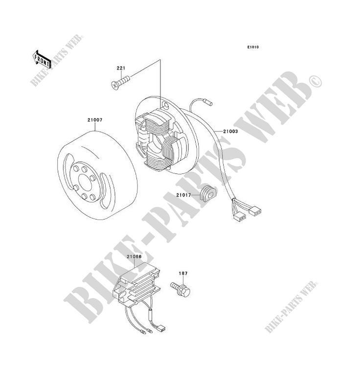 GENERATOR KE100 B19 KE100 2000 100 MOTOS Kawasaki