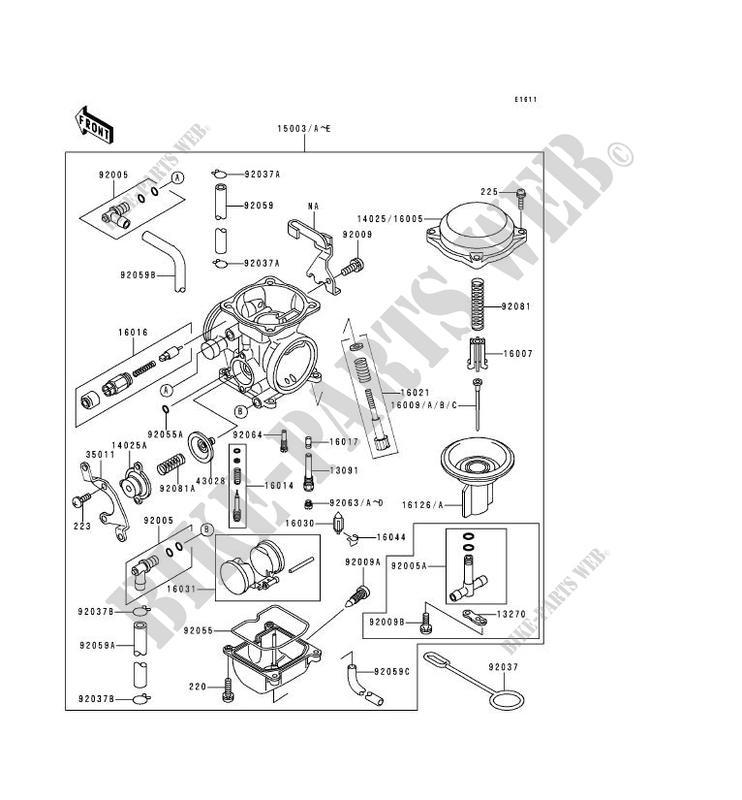 CARBURETOR KL650 C1 KLR650 1995 650 MOTOS Kawasaki
