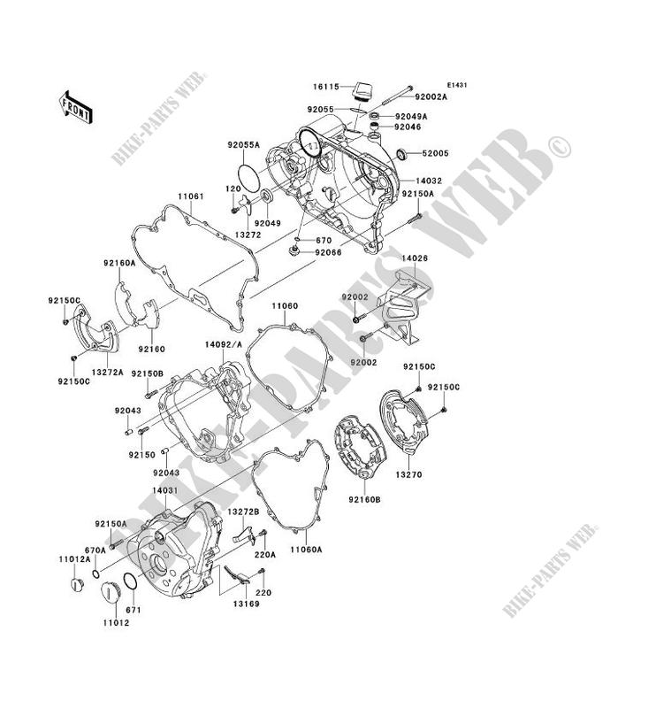 ENGINE COVERS for Kawasaki KLR650 2014 # KAWASAKI