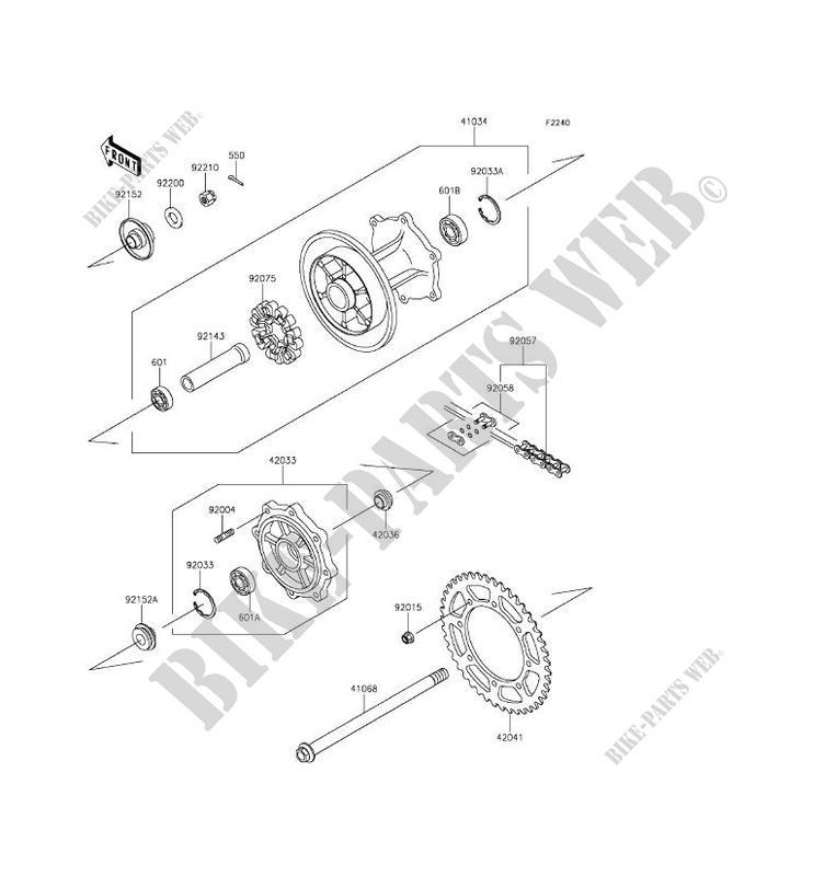 REAR HUB KL650EFF KLR650 2015 650 MOTOS Kawasaki