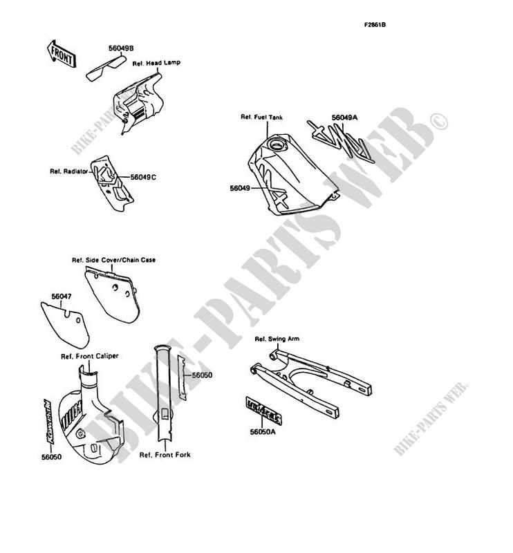 Vehicle Parts & Accessories Kawasaki KMX 125 A4 1989 Rear