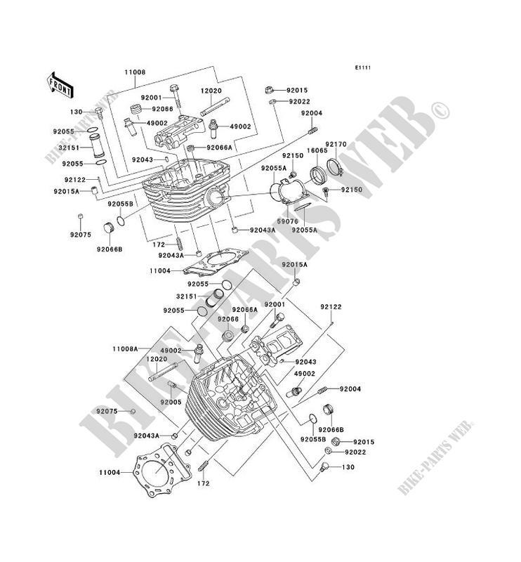CYLINDER HEAD VN800 C2 VN800 DRIFTER 2000 800 MOTOS