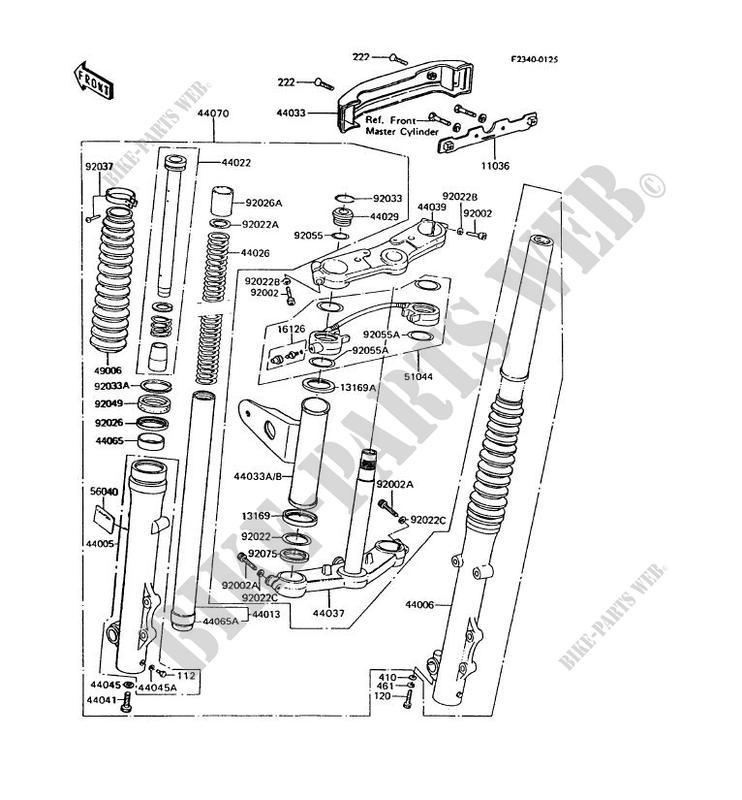FRONT FORK for Kawasaki GT750 1992
