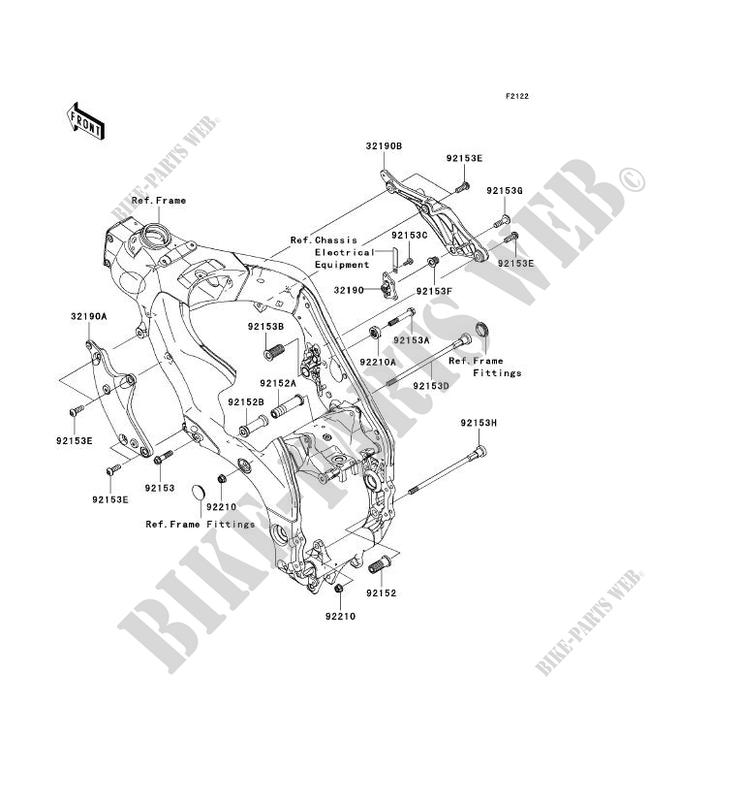 ENGINE MOUNT for Kawasaki NINJA ZX-10R 2009