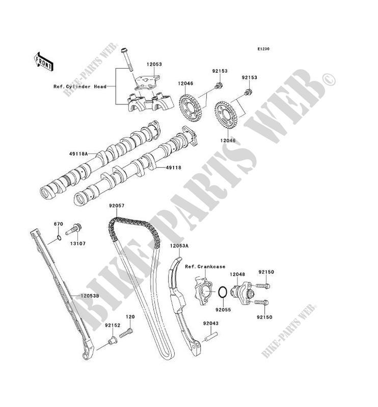 CAMSHAFT TENSIONER for Kawasaki NINJA ZX-10R 2011