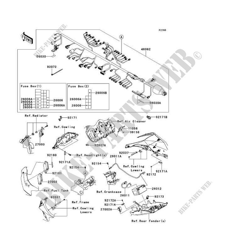 CHASSIS ELECTRICAL EQUIPMENT for Kawasaki NINJA ZX-10R