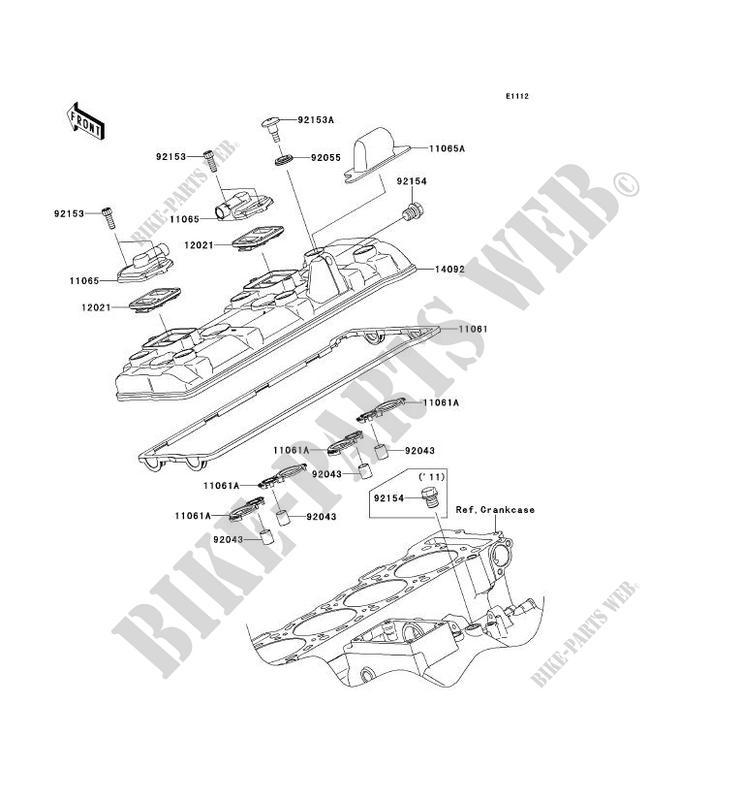 CYLINDER HEAD COVER for Kawasaki NINJA ZX-10R 2011