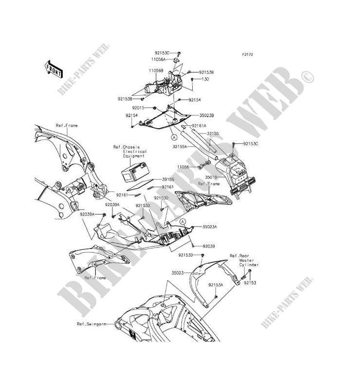 REAR FENDER for Kawasaki NINJA ZX-10R 2015