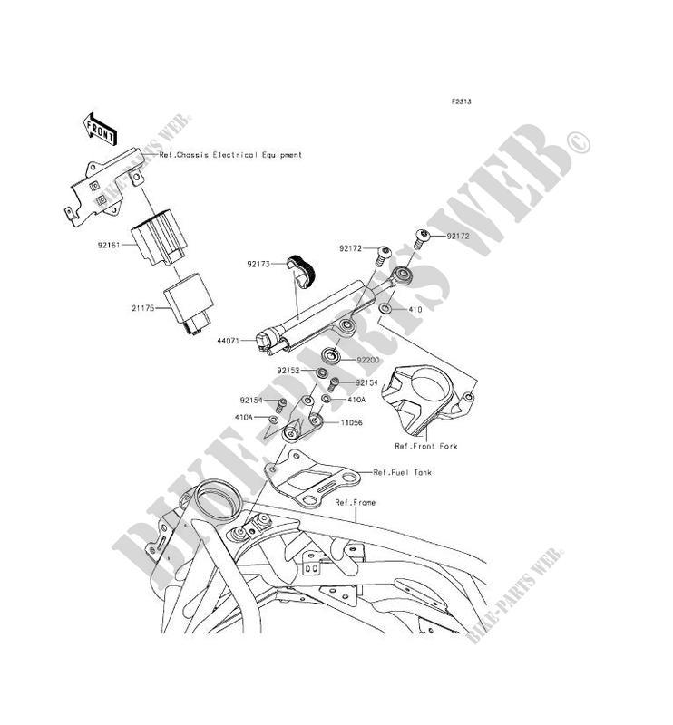STEERING DAMPER ZX1000NFF NINJA H2 2015 1000 MOTOS