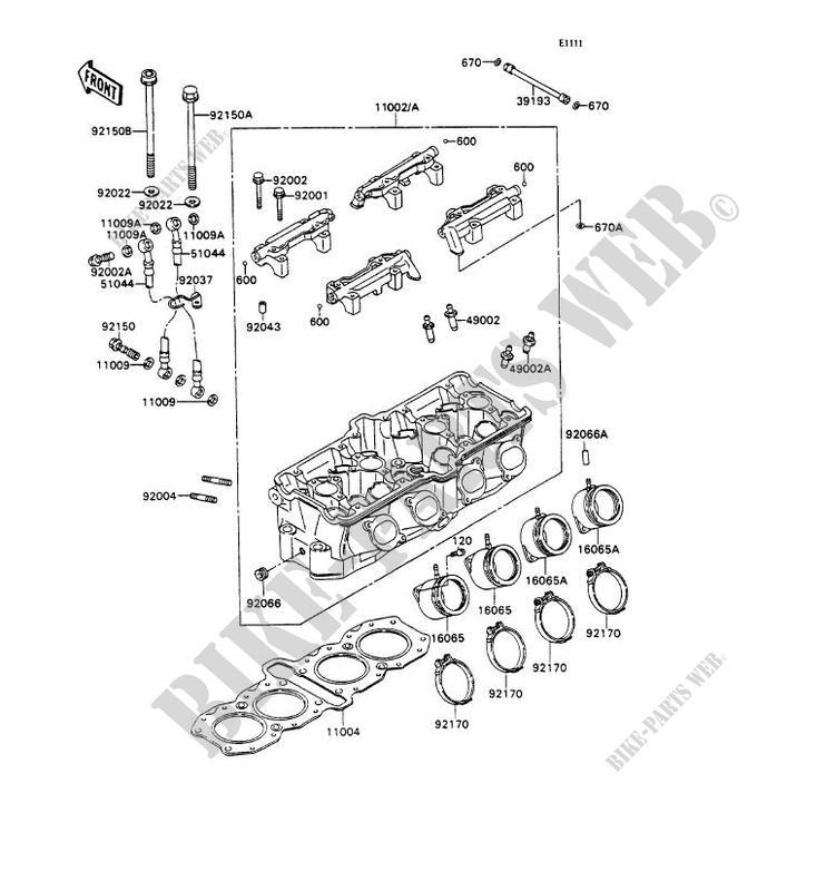 CYLINDER HEAD ZX750 H1 ZXR750 1989 750 MOTOS Kawasaki