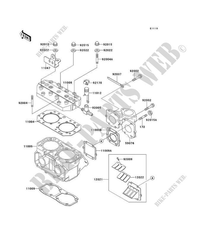 CYLINDER HEAD CYLINDER JS550 C2 JET SKI 550SX 1992 550 JET