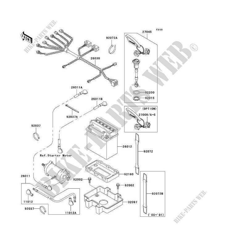 ELECTRIC EQUIPMENT for Kawasaki JET SKI 1100 STX 2001