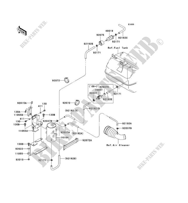 Kawasaki Mule 610 Fuel Filter Location : Kawasaki Mule