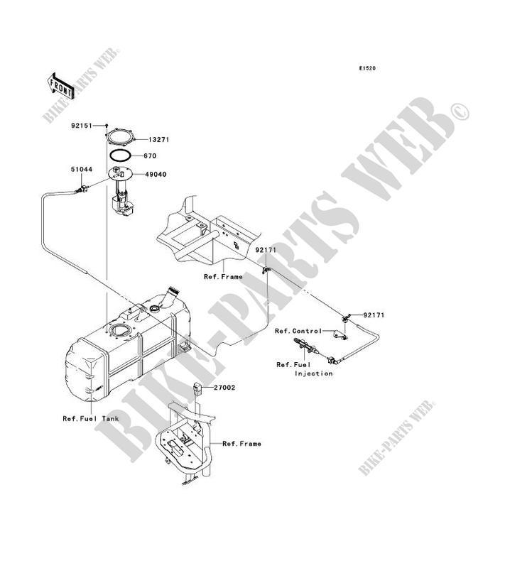 FUEL PUMP for Kawasaki MULE 4010 TRANS 4X4 2010