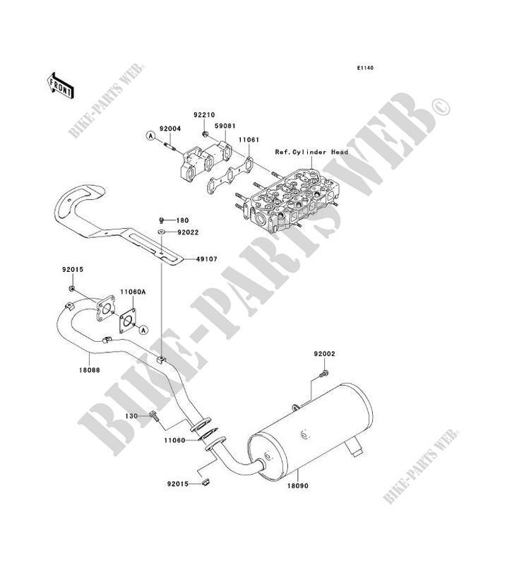 Motors Kawasaki GASKETEXHAUST PIPE 11060-1916 Auto Parts