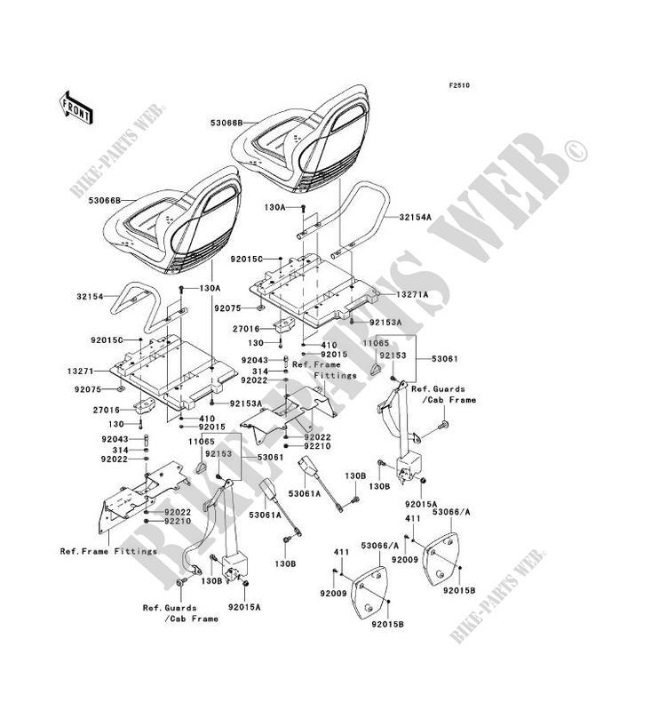 SEAT KRF750A8F TERYX 750 4X4 2008 750 SSV Kawasaki