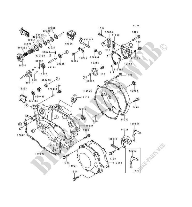 ENGINE COVERS KX250 L2 KX250 2000 250 TOUT TERRAIN