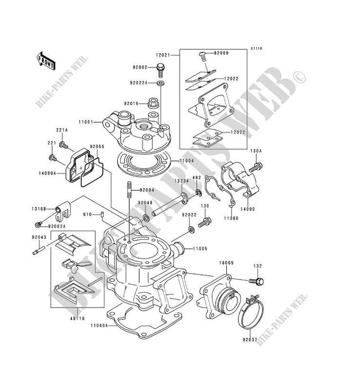 CYLINDER HEAD CYLINDER KX80 X2 KX80 X2 KX80 1999 80 TOUT