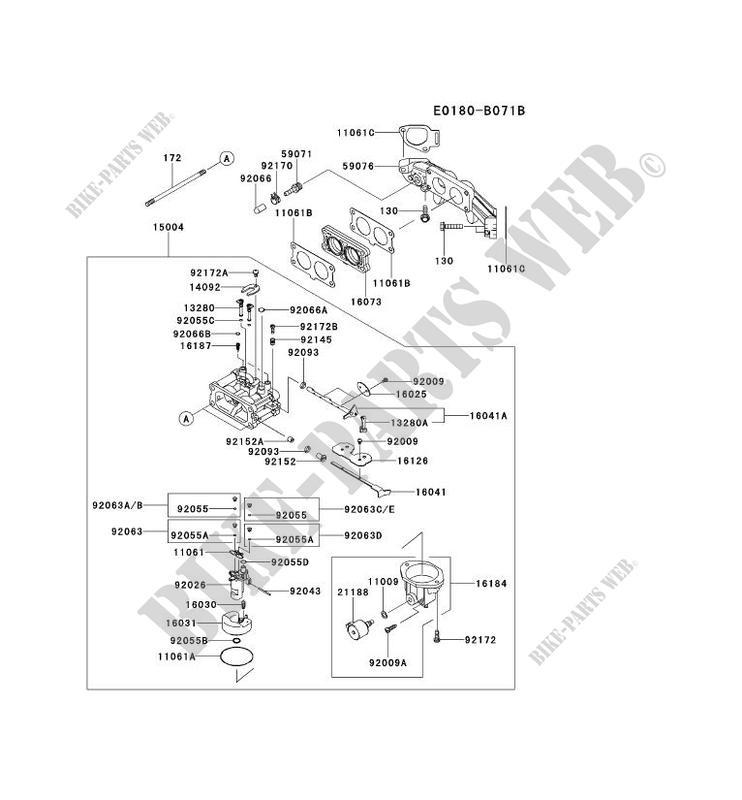 Diagrams Of Kawasaki Carburetor Kit 15004 7083. Kawasaki