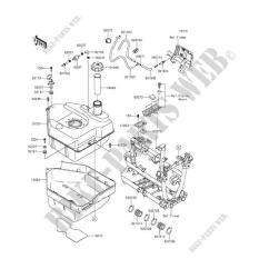 2016 Kawasaki Brute Force 750 Wiring Diagram 7 Pin Ultimate Adversary Practice Lock Fuel Tank Kvf750hgf 4x4i Eps Quad