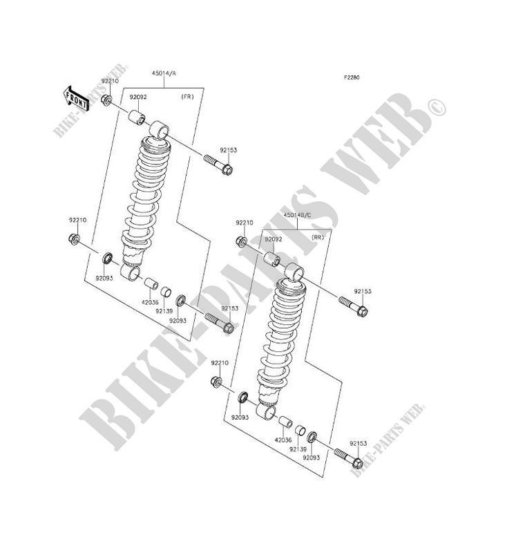 2016 kawasaki brute force 750 wiring diagram speakon plug suspension shock absorber kvf750hgf 4x4i eps quad