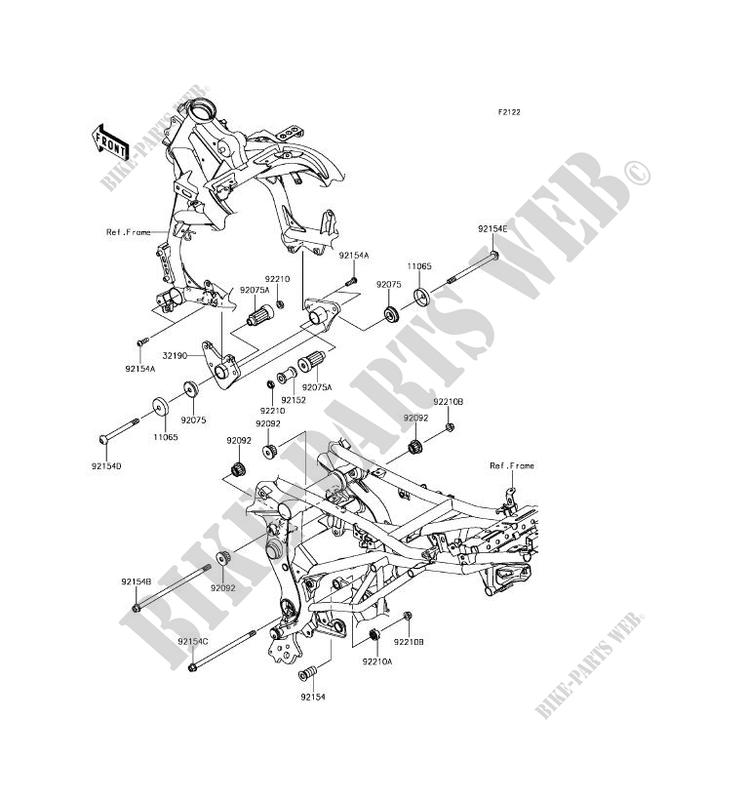 ENGINE MOUNT KLE650FHF VERSYS 650 ABS 2017 650 MOTOS