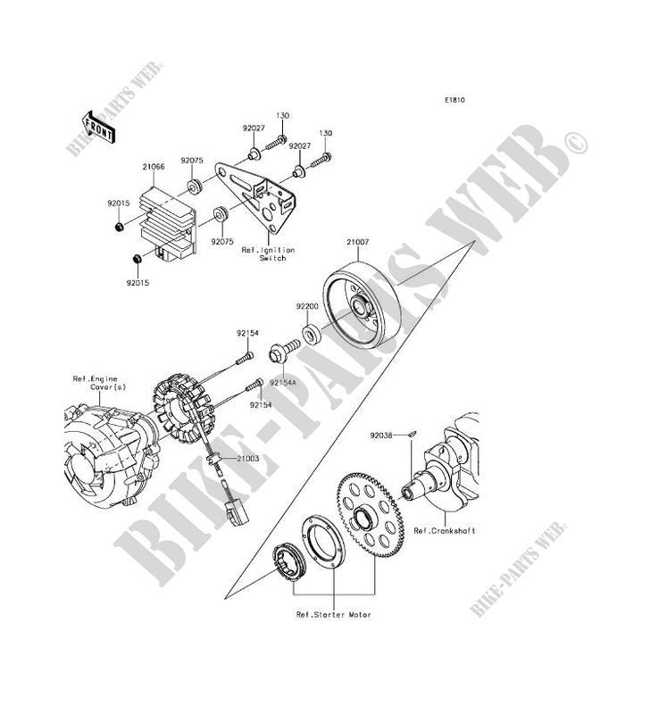 GENERATOR ZX1000WHF Z1000SX 2017 1000 MOTOS Kawasaki