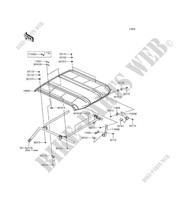 Kawasaki Teryx 4 Roof Diagram. Kawasaki. Wiring Diagrams