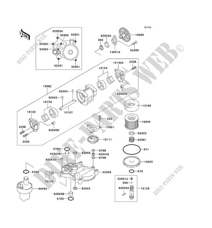 OLPUMPE Olfilter ZR1100 A1 ZEPHYR 1100 1992 1100 MOTOS