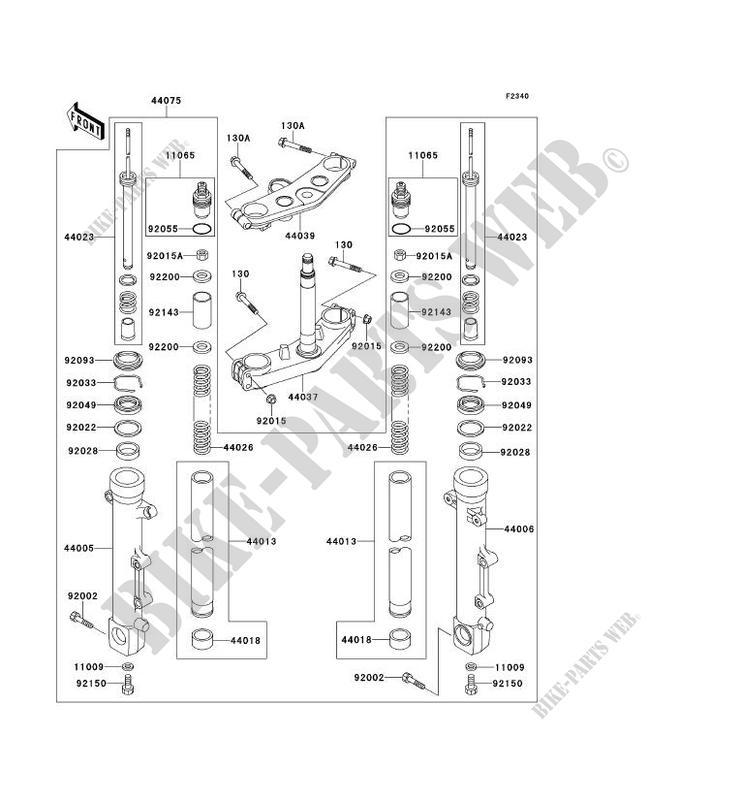 GABEL ZR1100 C4 ZRX1100 2000 1100 MOTOS Kawasaki motorrad